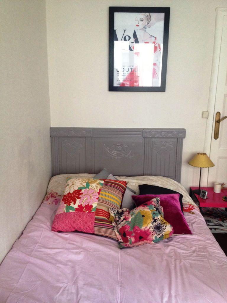diy t te de lit art d co chocolat et vieilles dentelles. Black Bedroom Furniture Sets. Home Design Ideas