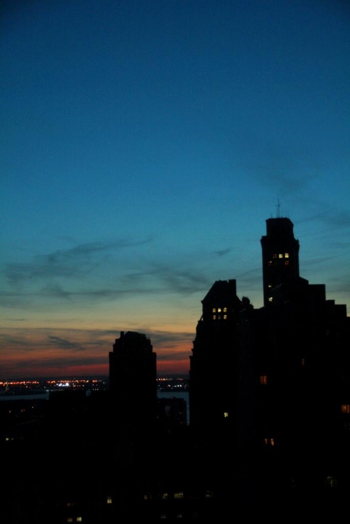Coucher de soleil au 25e étage de chez mes potes