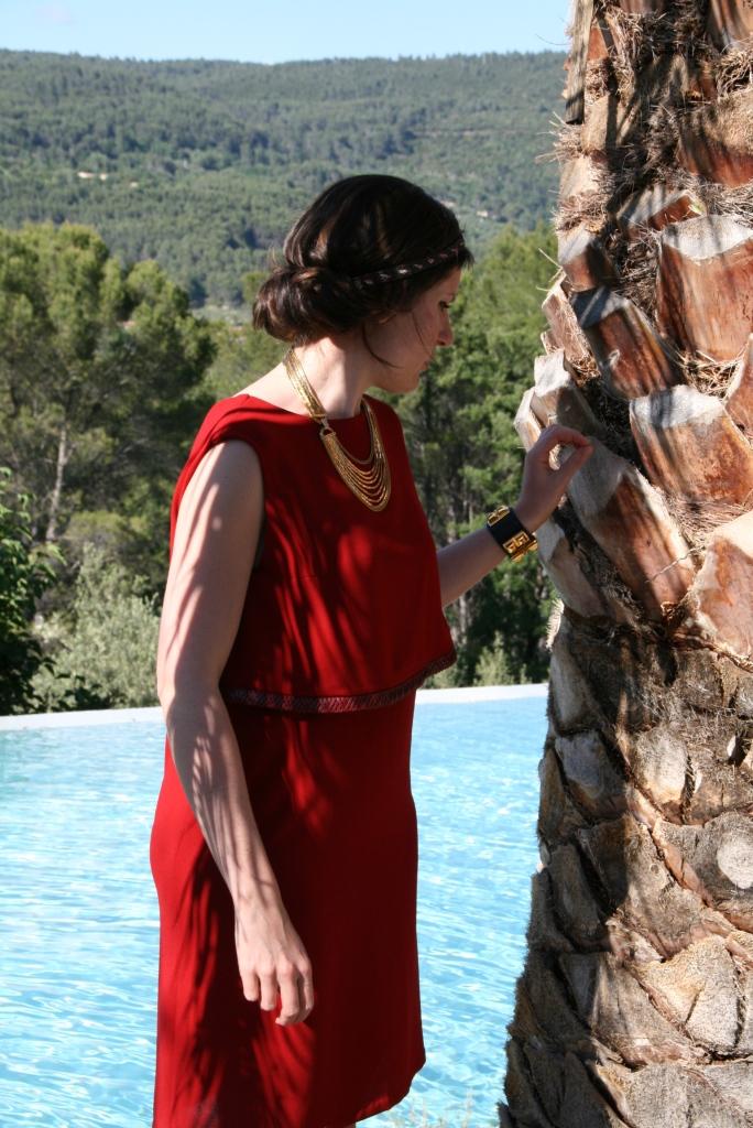 headband fait par moi, collier chiné et bracelet Collier de Chien Hermès