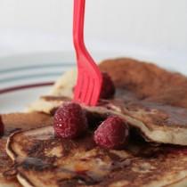 pancakes framboises fleur d'oranger 004