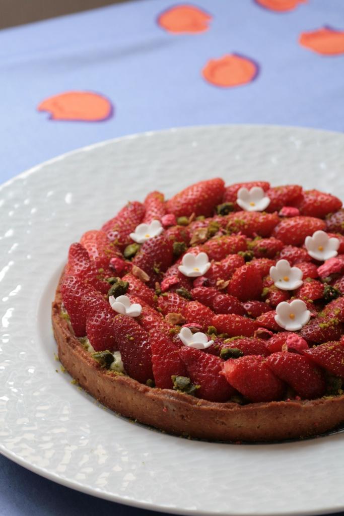 tarte fraises pistache Ladurée 014