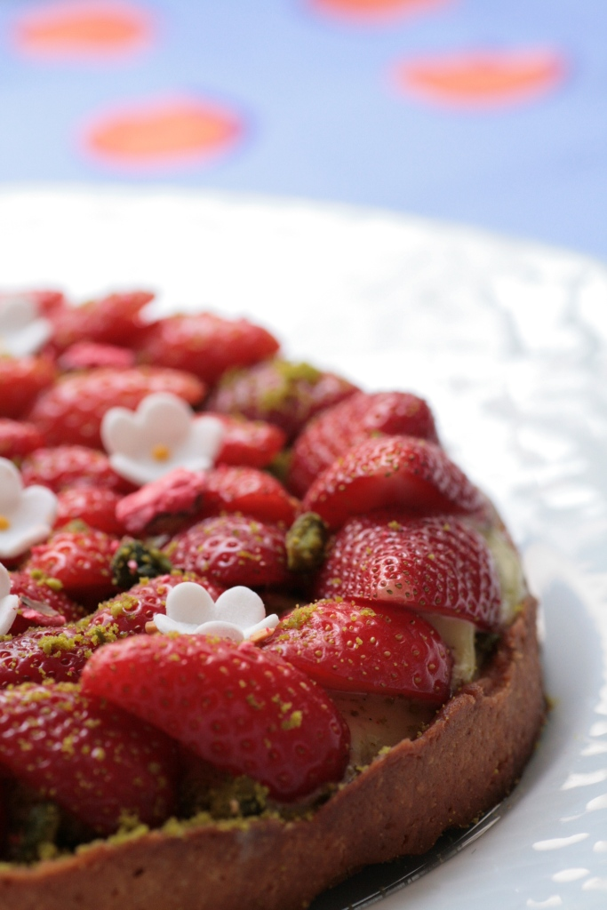 tarte fraises pistache Ladurée 034