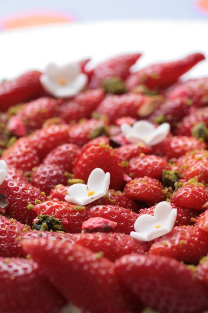 tarte fraises pistache Ladurée 062