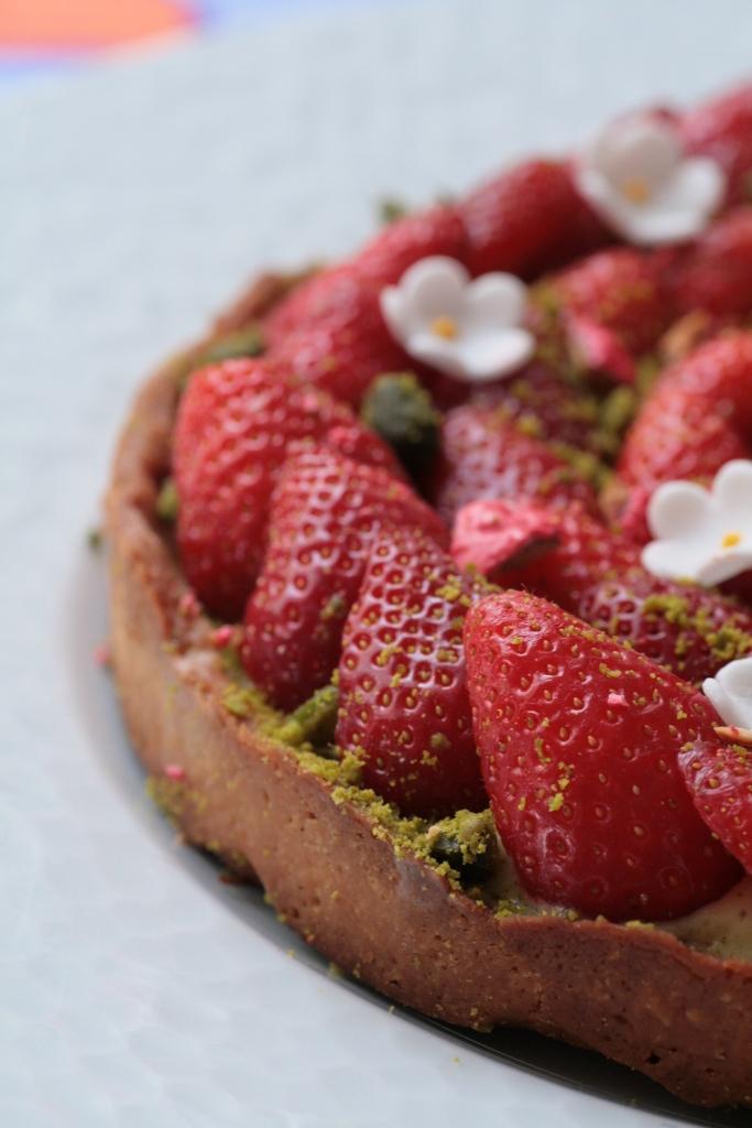 tarte fraises pistache Ladurée 094