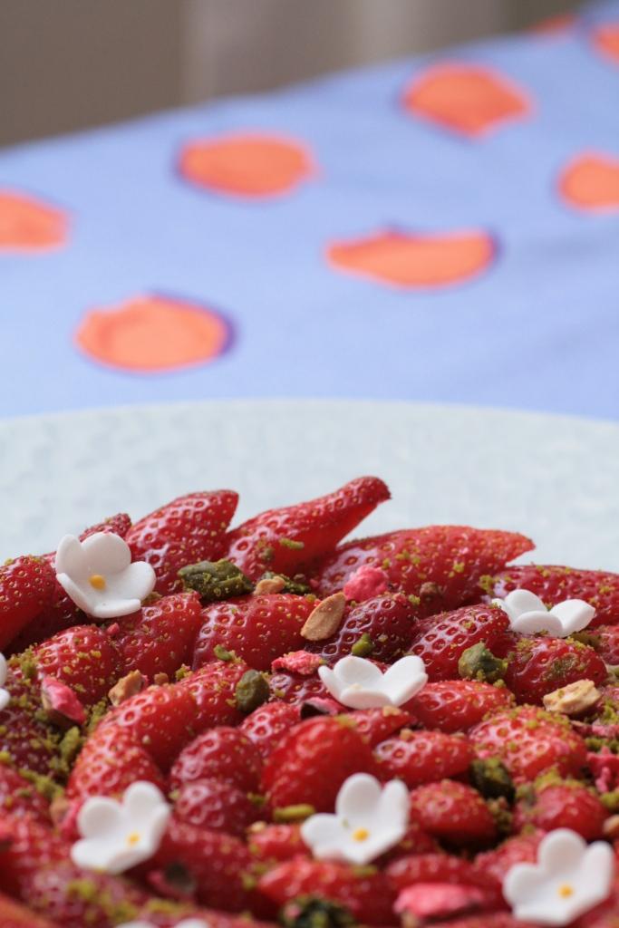 tarte fraises pistache Ladurée 097