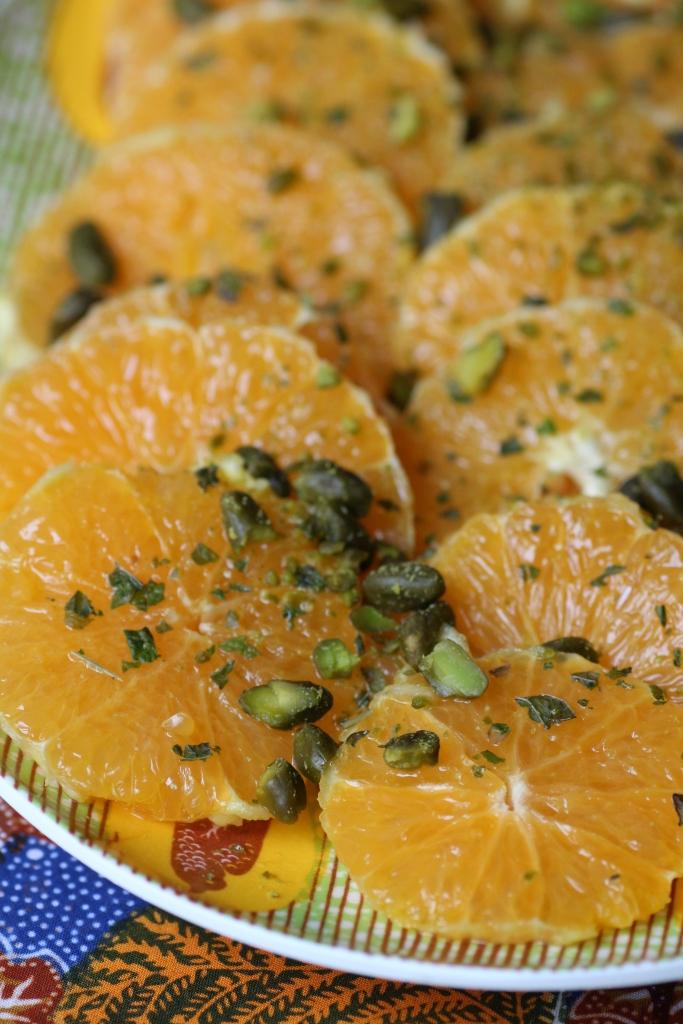 salade d oranges fleur d oranger et pistaches chocolat et vieilles dentelles. Black Bedroom Furniture Sets. Home Design Ideas