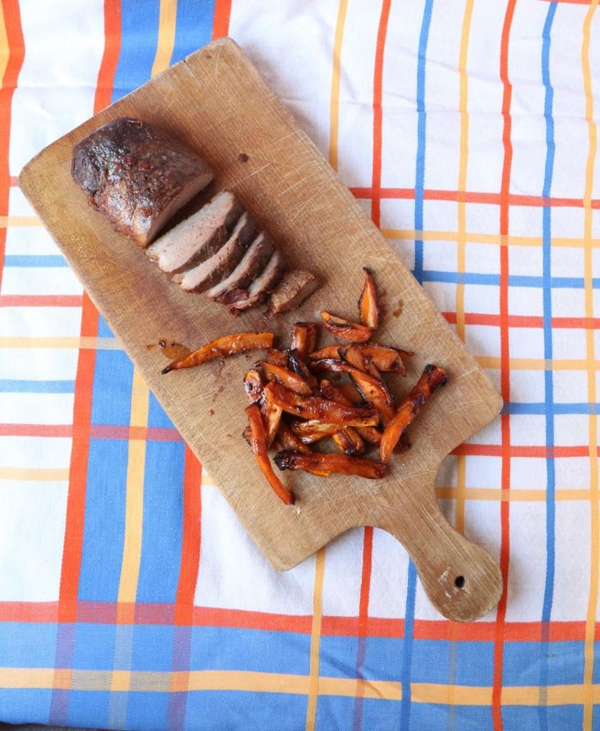 magret mariné, frites de patates douces 017 (2)