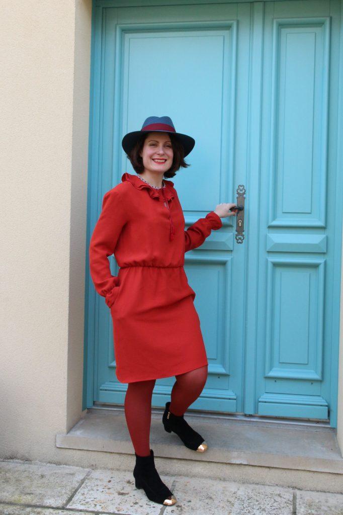 robe rouge marjolaine 056